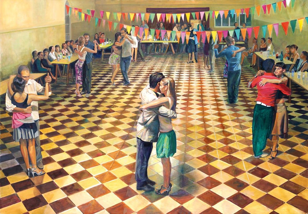 Daniel Kaplan es un artista audaz, que evoluciona y no se conforma con lo ya realizado. En Colección Alvear tenemos el agrado de poder exhibir sus últimas creaciones referidas al tango y otras de sus nuevas ocurrencias.