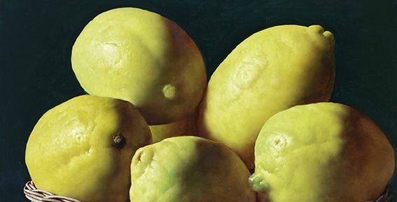Limones . óleo sobre lienzo . 100x150cm . 2018
