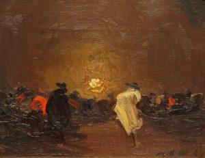 Procesión . óleo sobre lienzo . 23x30cm . 1930