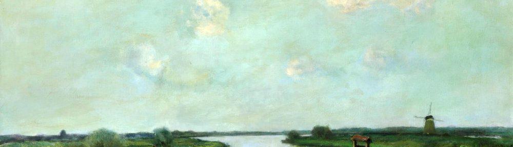 Canal Holandés . óleo sobre lienzo . 102x118cm . 1949