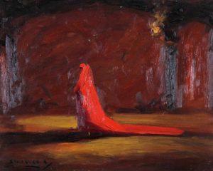 Cardenal . óleo sobre tabla . 34x42cm . 1928