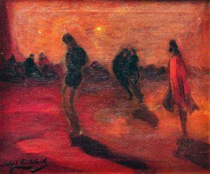 El Último Bastión . óleo sobre lienzo . 51x61cm . 1921