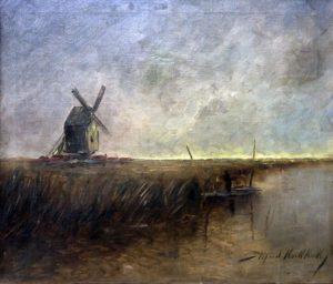 Molinos . óleo sobre lienzo . 50x60cm . 1918