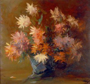 Crisantemos . óleo sobre tabla . 80x100cm . 1932