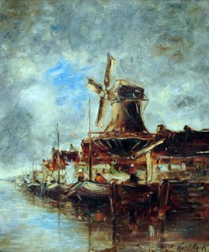 El Molino . óleo sobre lienzo . 60x50cm . 1917