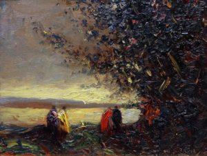 Encuentro . óleo sobre tabla . 23x29cm . 1933