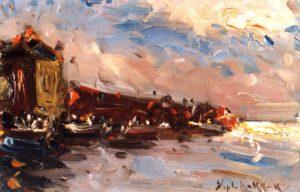 Puerto . óleo sobre hardboard . 15x24cm . 1926