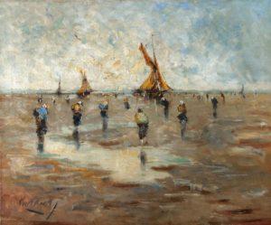 La Playa . óleo sobre lienzo . 70x86cm . 1922