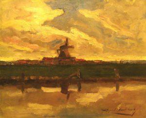 Molino . óleo sobre cartón . 38x46cm . 1922