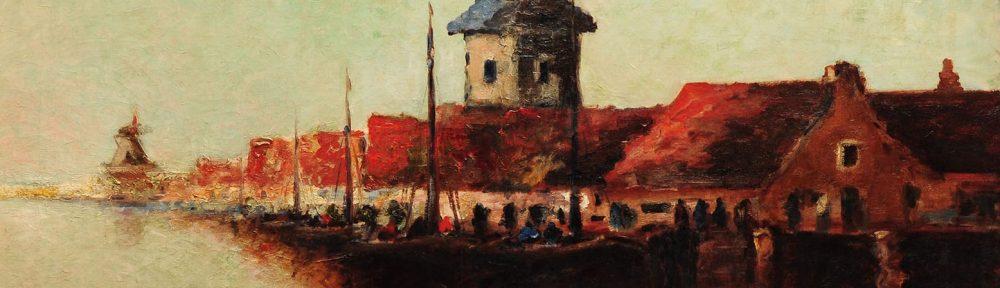 Una Tarde en Dordrecht . óleo sobre lienzo . 90x120cm . 1925