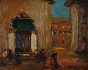 Vida Cotidiana . óleo sobre tabla . 40x50cm . 1928
