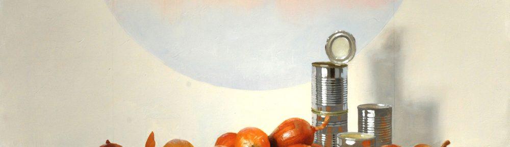 Cebollas y Latas . óleo sobre lienzo . 90x110cm . 2013