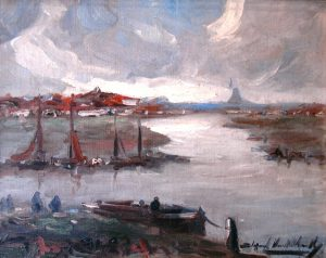 Entrada al Canal . óleo sobre lienzo . 42x53cm . 1919