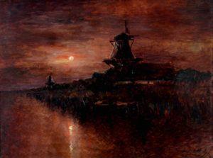 Nocturno . óleo sobre lienzo . 90x120cm . 1928