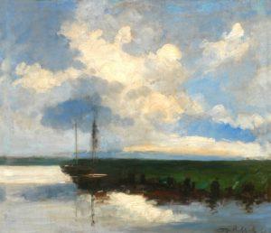 Canal de Holanda . óleo sobre tabla . 47x55cm . 1918