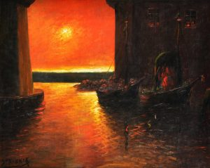 El Día se Va . óleo sobre table . 68x83cm . 1930