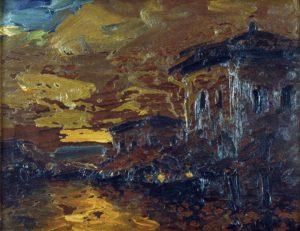 Puerto . óleo sobre tabla . 34x45cm . 1924