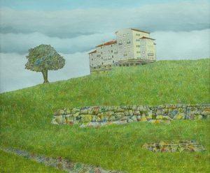 Hotel Tourbillon, Mar del Plata . óleo sobre lienzo . 50x60cm . 2008
