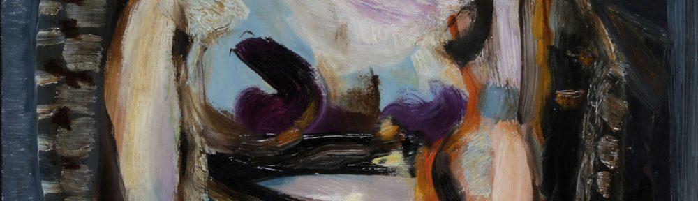 Figura Sentada . óleo sobre lienzo . 81x58cm . 1958