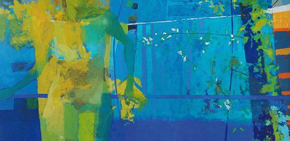 Desnudo en el ventanal . óleo sobre lienzo . 190x160cm . 2018