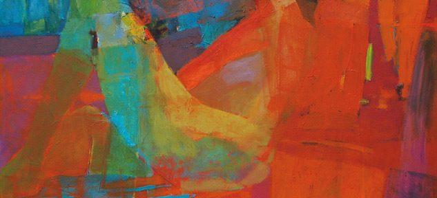 Desnudo en naranjas . óleo sobre lienzo . 100x100cm . 2017