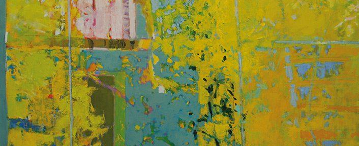 Otoño en la ventana . óleo sobre lienzo . 100x130 . 2018