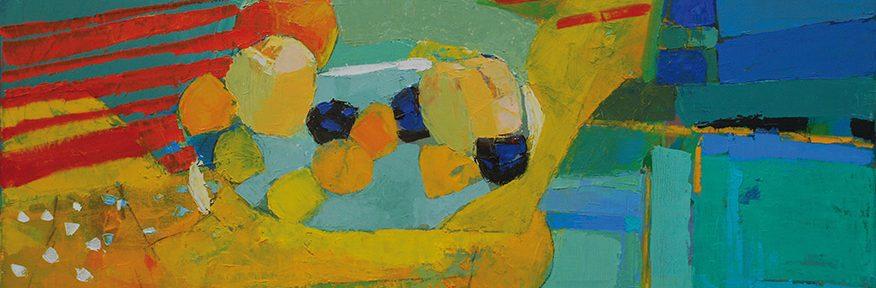 El trapo amarillo . óleo sobre lienzo . 50x80cm . 2018