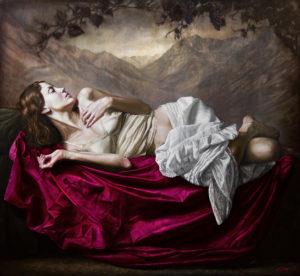 Siesta en las Parras . óleo sobre lienzo . 150x160cm . 2013