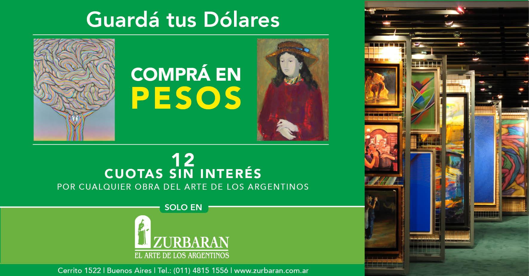 En ZURBARAN, hemos tratado de ser originales en estos 42 años de actividad y por eso ahora ofrecemos toda nuestra colección en pesos y con 12 cuotas sin interés.