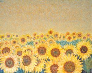 Girasoles . óleo sobre lienzo . 80 x 100 cm . 1994