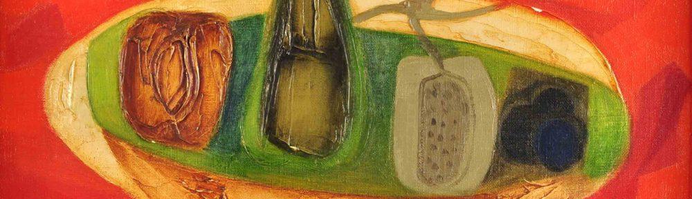 La Frutera . óleo sobre hardboard . 30 x 40 cm . 1967