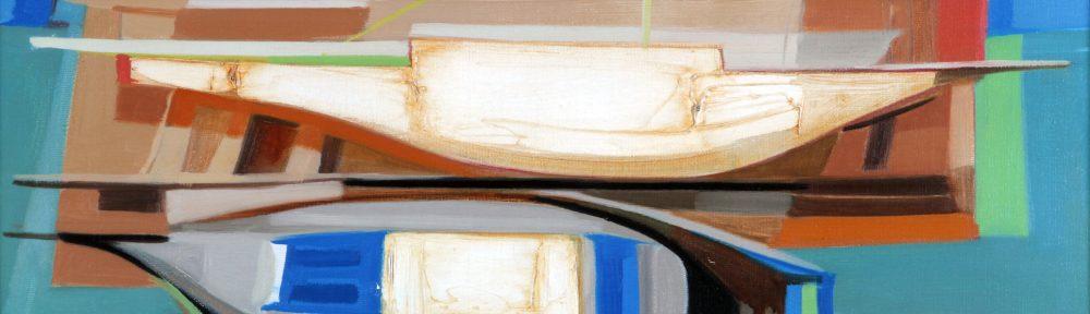 Astillero en Descanso . óleo sobre lienzo . 50 x 70 cm . 1973