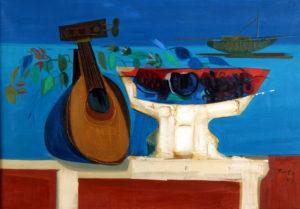 El Viejo Instrumento . óleo sobre lienzo . 70 x 100 cm . 1969