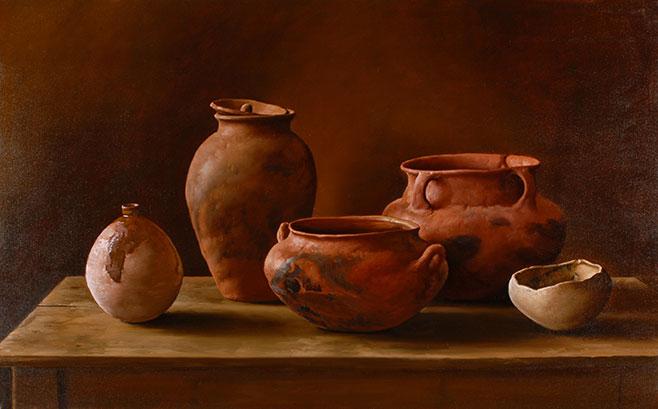 Cacharros del Norte . óleo sobre lienzo . 70 x 110 cm . 2006