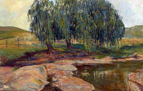 """""""Atardecer"""" – Óleo sobre lienzo - 58x88cm. – 1925"""