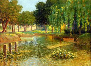 Fausto Coppini . óleo sobre lienzo . 50 x 67 cm . 1930