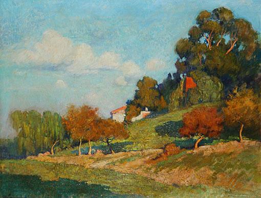 Atilio Malinverno . Sobre la Loma, San Isidro . óleo sobre lienzo . 100 x 126 cm . 1921