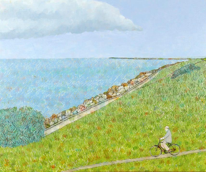 Bernardo Mar por Playa Chica . óleo sobre lienzo . 50 x 60 cm . 2016