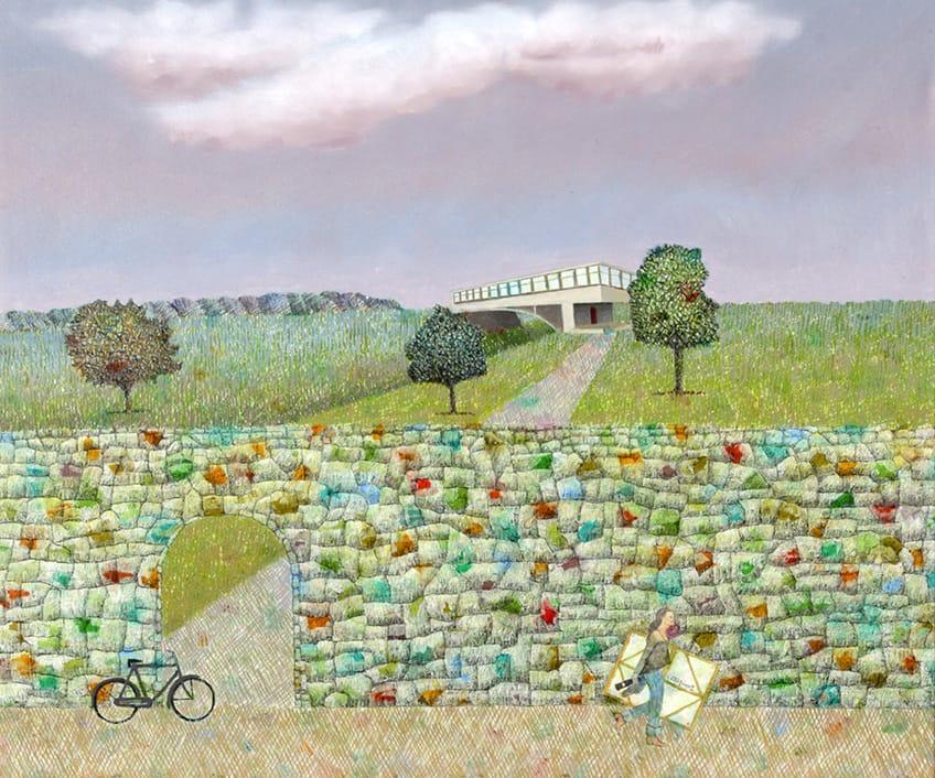 El paisaje es el principal tema que aborda Néstor Villar Errecart (81) en sus creaciones, y es la ciudad de Mar del Plata su principal fuente de inspiración.
