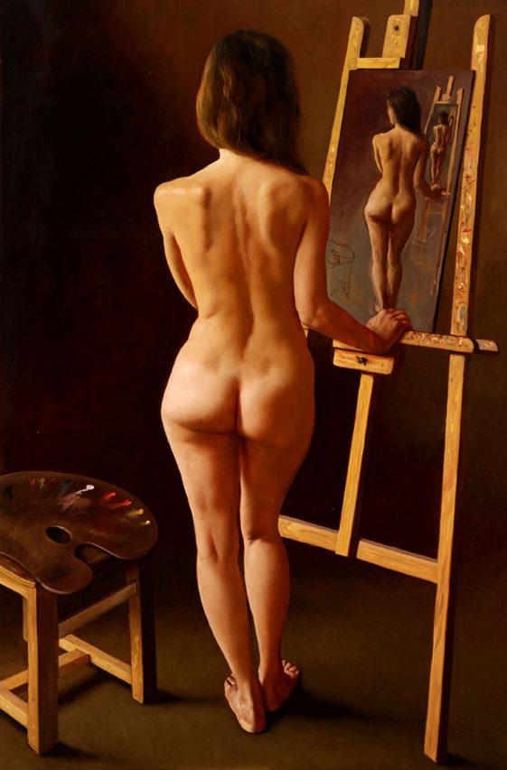 Ecos . óleo sobre lienzo . 150 x 100 cm . 2019