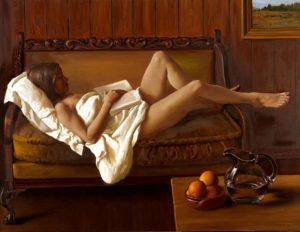 La Siesta . óleo sobre lienzo . 100 x 130 cm . 2019