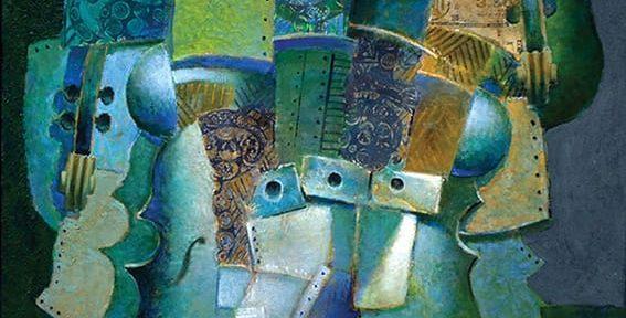 Estructura Verde . óleo sobre lienzo . 60 x 70 cm . 2011