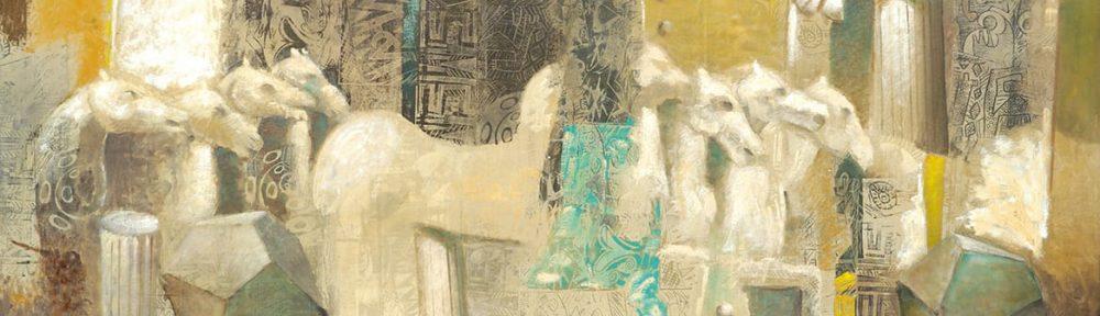 Mármoles de Efeso II . óleo sobre lienzo . 60 x 150 cm . 2015