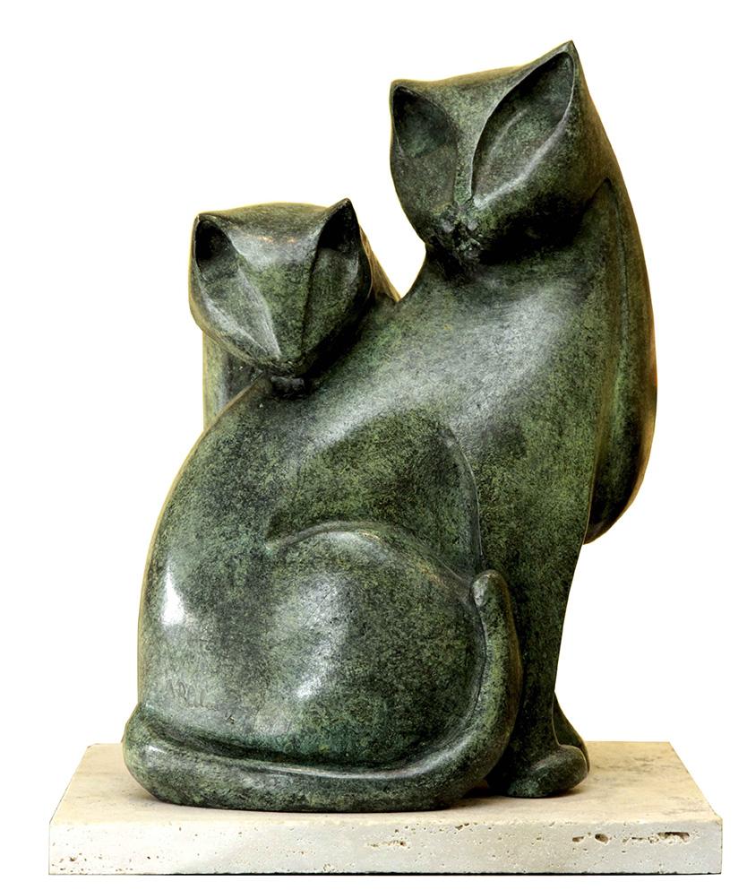 Gatos . bronce . 31 x 18 x 18 cm . 2016