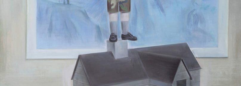 Después del derrumbe . acrílico sobre lienzo . 185 x 190 cm . 2018
