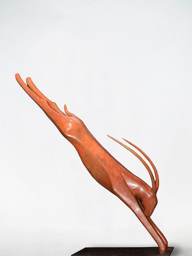 Sólo un Salto . bronce . 126 x 102 x 32 cm . 2019