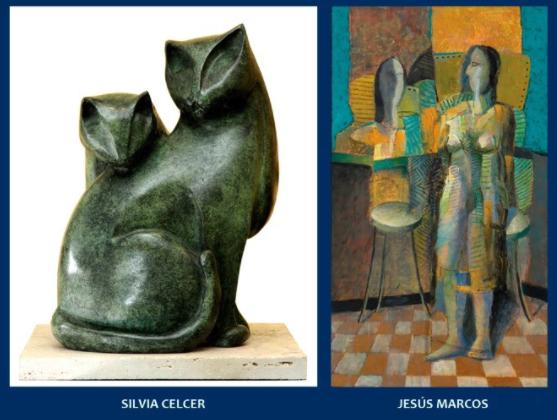 Los invitamos este lunes 10 a la inauguración de la muestra de la escultora Silvia Celcer y el pintor Jesús Marcos que estaremos brindando en Colección Alvear de Zurbarán. Sus creaciones son modernas, atractivas; volcando en ellas elegancia y sentido estético.