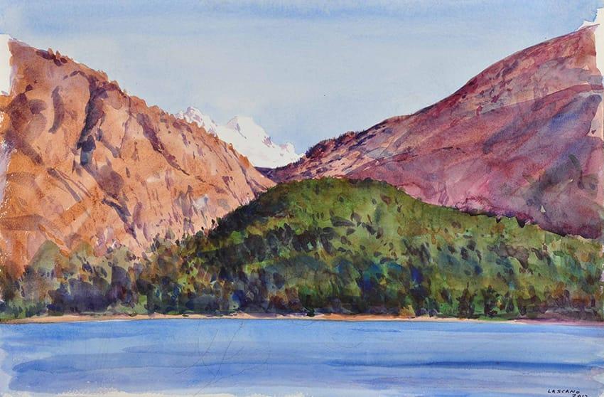 Hoy daremos inicio a la exposición de Juan Lascano en Zurbarán Santa Fe. Son acuarelas las que se estarán presentando que tendrán al paisaje patagónico como temática principal.