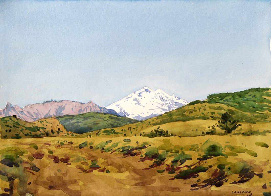 Monte Tronador . acuarela sobre papel . 25 x 34 cm . 2019