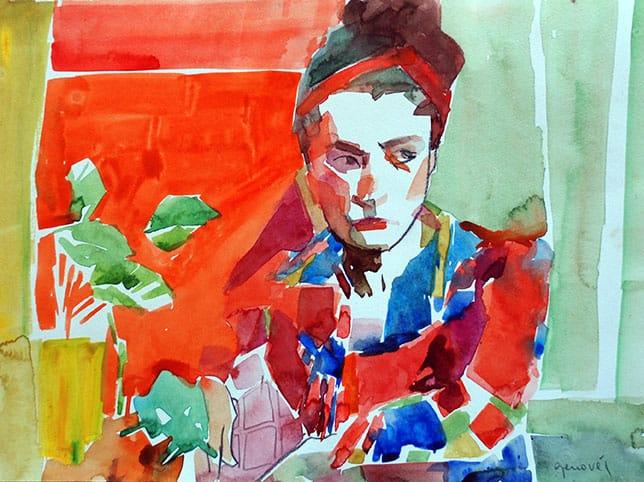 Mariela . acuarela sobre papel . 30 x 40 cm . 2015